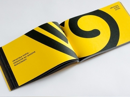 Croatian Post Progress Report 2011 on the Behance Network #print #yellow #annual #black #report