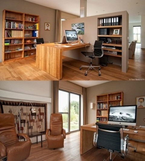 Wood & Mac Home workspace #design #books #home #workspace #mac