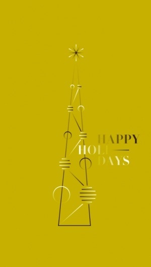 Holiday card 2011 on the Behance Network #year #tree #card #print #design #graphic #christmas #holiday #gold #new