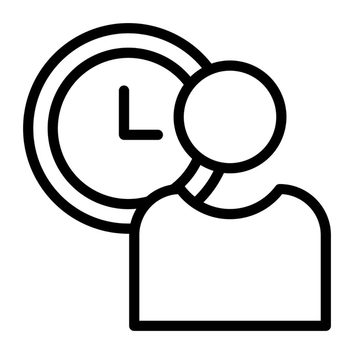 See more icon inspiration related to plan, clock, time and date, files and folders, time management, circular clock, planning, wall clock, employee, management, user, clocks, watch and time on Flaticon.
