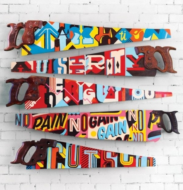 Painted Saws by Vault49 – Fubiz™ #painting #art #saw