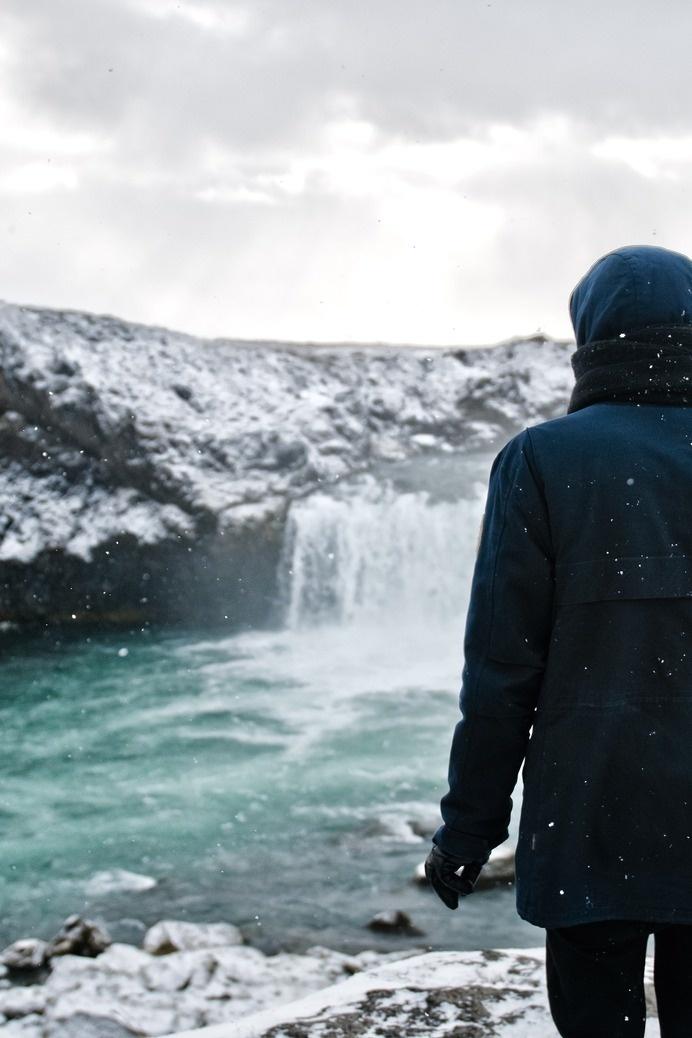 (2) Likes | Tumblr #man #island #waterfall #winter