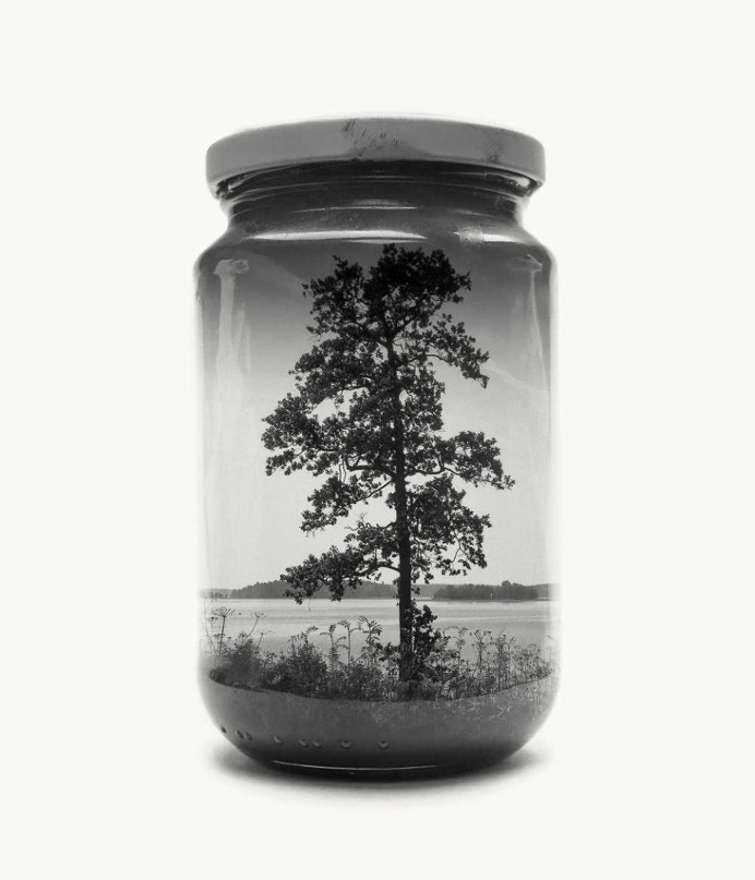 Jarred and Displaced: Mysterious Double Exposure Photography by Christoffer Relander