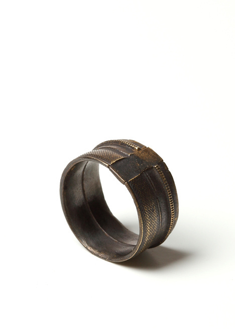 Robert Geller N9019 Ring In Antique Brass