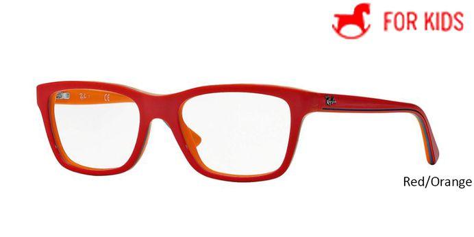Red/Orange RayBan Eyeglasses ORY1536 - Red/Orange.