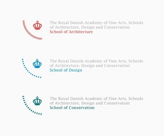 The Royal Danish Academy of Fine Arts - ADC on the Behance Network #crown #danish #royal #academy #identity #circle