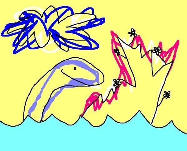 Dinosaurios #paulacometa #paint #illustration #dinosaur #submarine