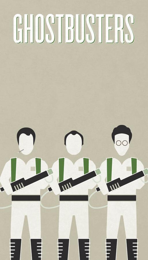 Ghostbusters Poster #sigourney #movie #ghostbusters #halloween #tan #ghost #cigarette #bill #dan #texture #moranis #illustration #akroyd #remis #minimal #poster #weaver #rick #murray #harold