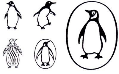 Delicious Industries: Classic Logos #penguin #logo