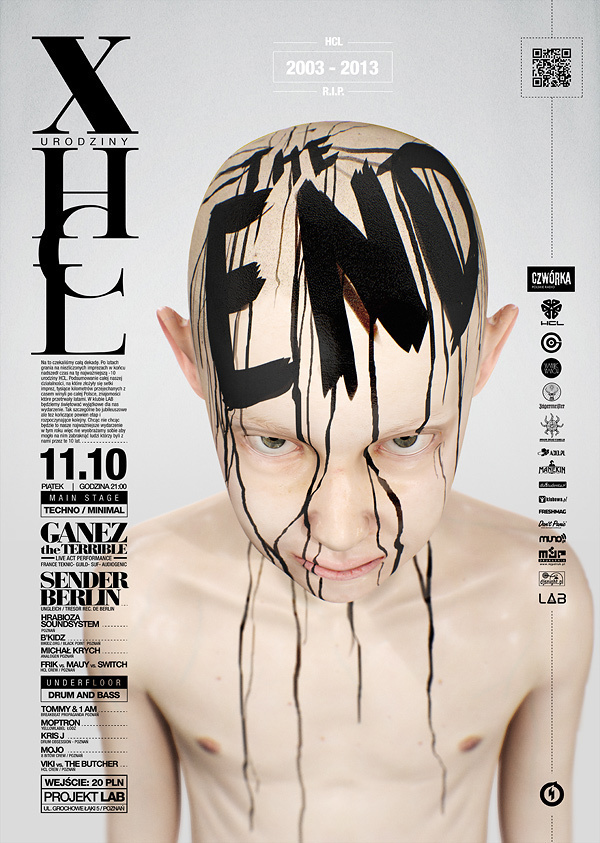 HCL 10th Anniversary: The End - Gig Poster by STRZYG #lettering #render #gig #design #graphic #poster #3d #typography