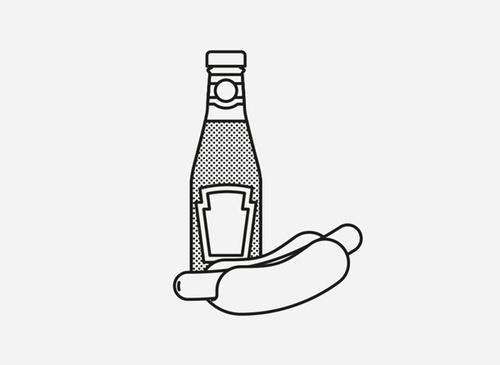 Fast Food by Josep Duran Frigola #vector #design #graphic #food #digital #illustration #minimal #art #drawing