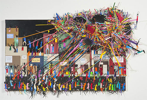 collage artist devin troy strother #cutting #illustration #collage #paper