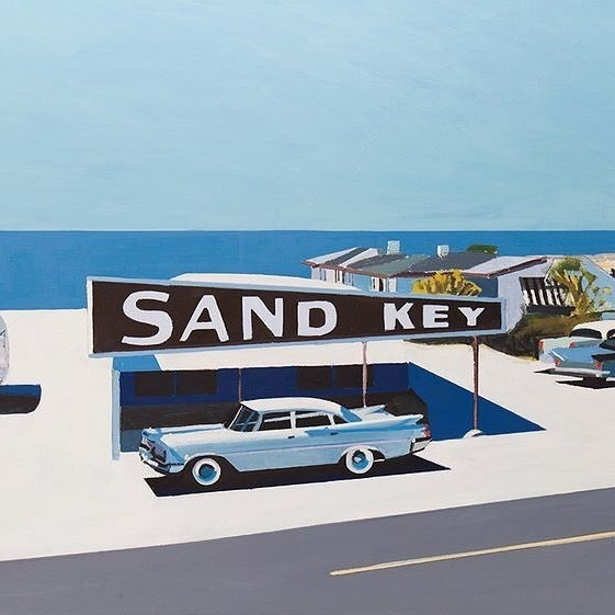 How about a little summer road trip? Painting by @jessica_brilli_artist 🚙 💙☀️🌊