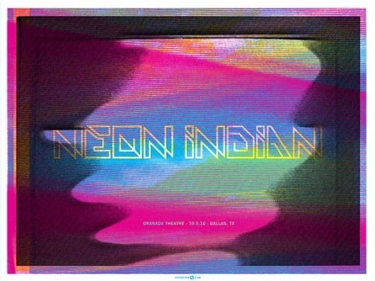 GigPosters.com - Neon Indian #indian #poster #neon