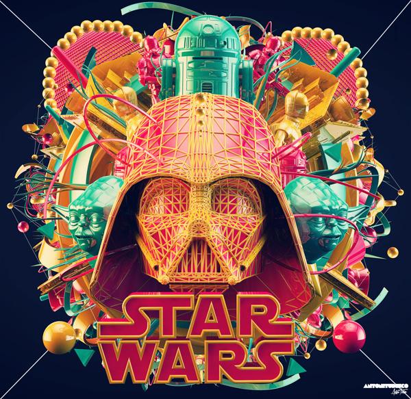 KILL ART // TRUST DESIGN 2.0 #darth #vader #wars #star