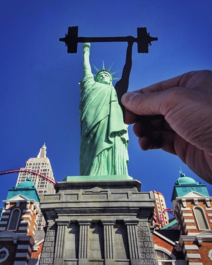 Rich McCor Transforms Iconic Landmarks With Just a Few Paper Props
