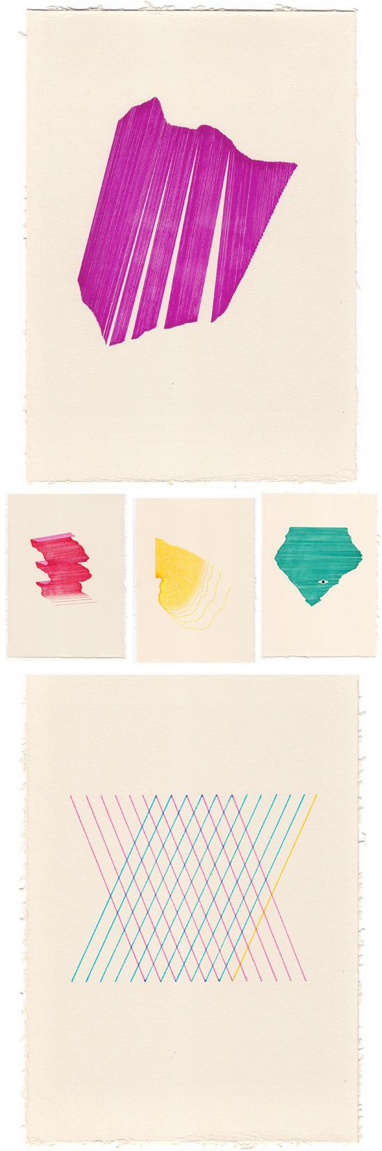fragment #on #color #paper #ink
