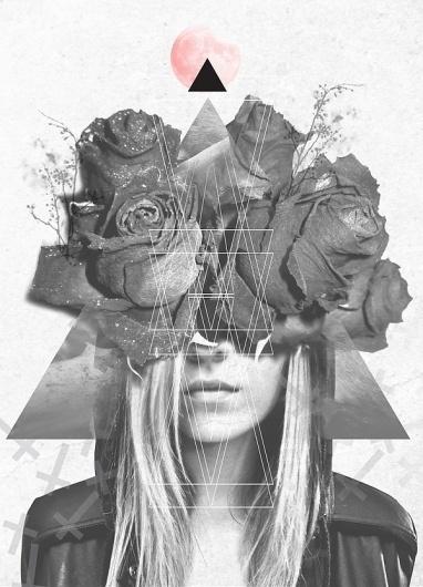 Forelsket // on the Behance Network #roscoflevo #cross #design #shapes #triangle #nature #blonde #embrace #fashion #flowers
