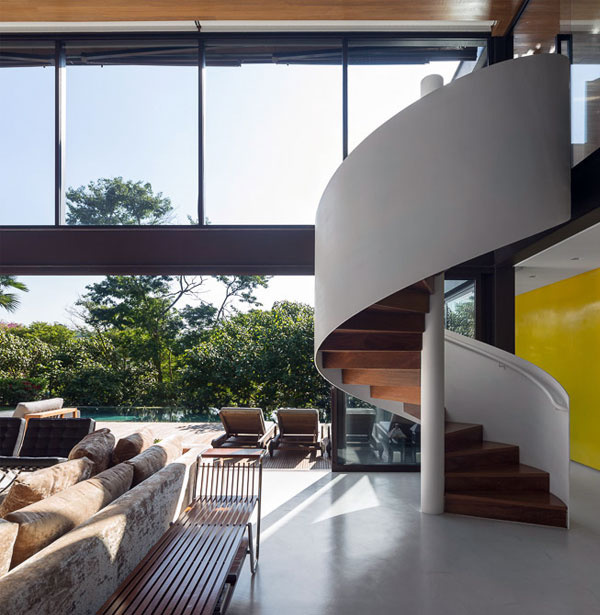 Contemporary Residence Interior in Brazil - #architecture, #house, #home, #stairs,