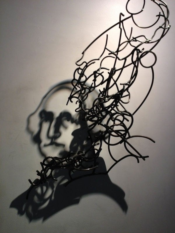 CJWHO ™ (Incredible Shadow Art Created Out Of Messy Steel...) #steel #kagan #crafts #design #larry #sculputre #art #shadow