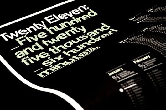 Mash Creative 2011 calendar | Identity Designed #print #design #graphic #minimal #poster