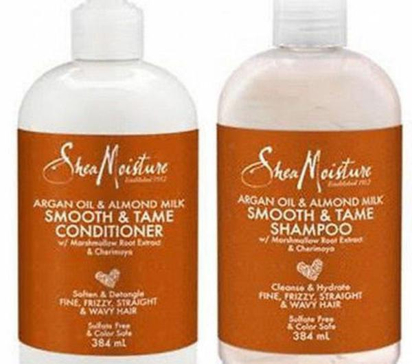 Shea Moisture Argan Oil & Almond Milk Smooth & Tame Shampoo & Conditioner Duo Pack