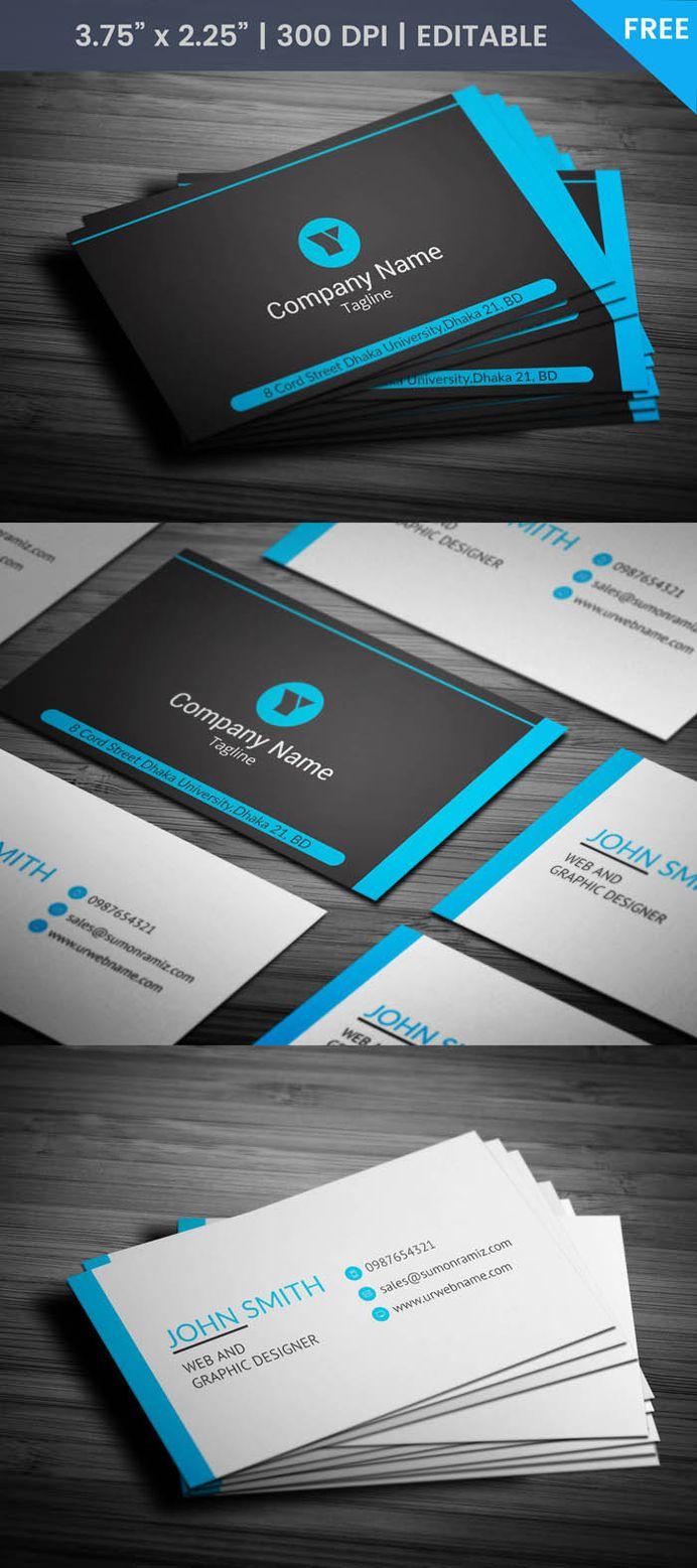 Free Black Web Designer Business Card Template
