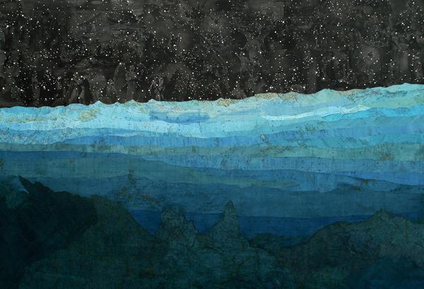 Matthew Cusick : Paintings #ocean #sky #map #sea #art