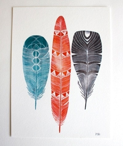 Juxtapost - My great finds #print #feathers