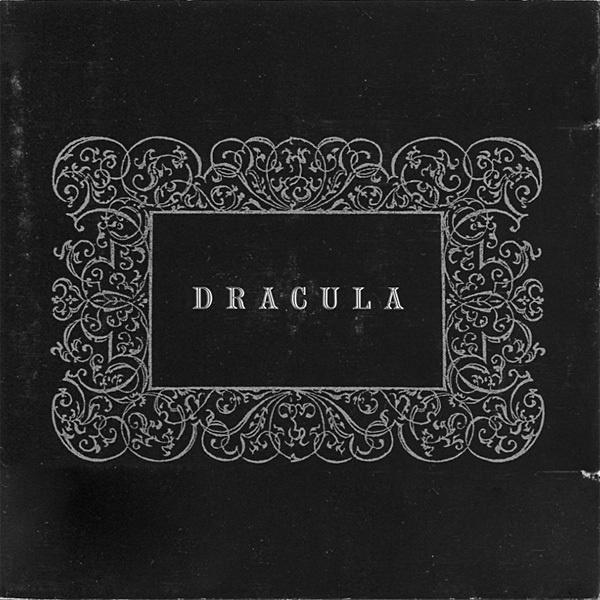 Dracula, Philip Glass & Kronos Quartet. Alternate cover #album #white #kronos #quartet #dracula #gothic #horror #black #cover #monochrome #ornament #typography