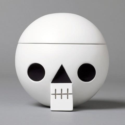 Acne JR   Cranium White #wood #skull