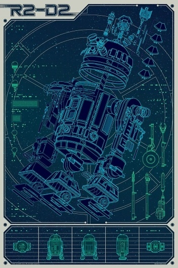 A Linch Pin Droid.jpg 660×991 pixels #starwars #r2d2