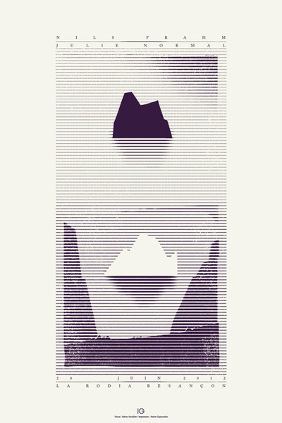 Nils Frahm | Julie Normal #screen #print #adrien #houillere