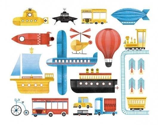 Design;Defined | www.designdefined.co.uk #maidagan #illustration #corte #vehicles