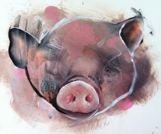 Daniel Lumbini - Pig Ugly | 5 Pieces Gallery - Contemporary Fine Arts & Photography #painting #artist #art