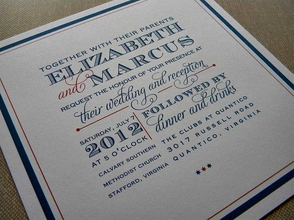 Creative Type wedding invitation #wedding #typography