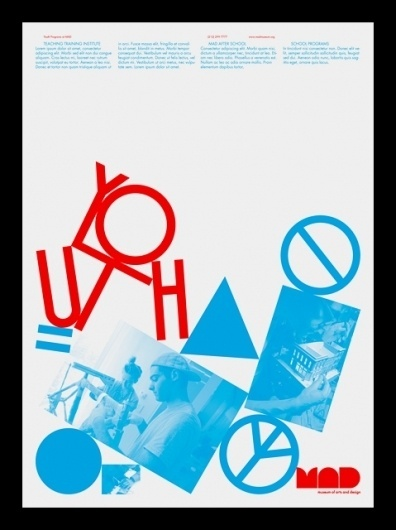 Youth Programs at MAD — Vance Wellenstein #flyer #experimental #poster
