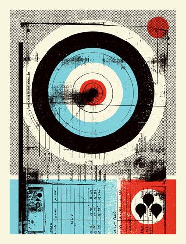 Print #illustration #target #textures #anti #style