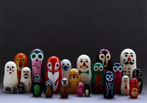 My Owl Barn #owl #fox #matrioshka #design #matryoshka #animals #toy