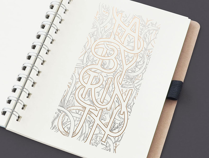 #typeface #lettering #illustration #forest #labyrinth #maze by Magic Suitcase