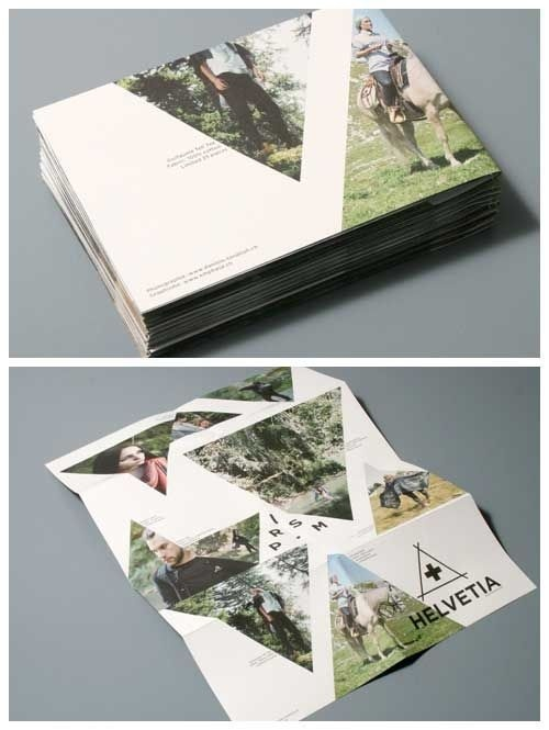 brochure design #triangle #brochure