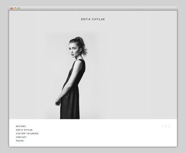 Zofia Chylak #website #layout #design #web