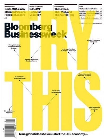 Kickstart the US economy - Coverjunkie.com #design #graphic #magazine #typography