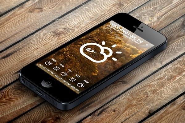 Morning Rain - iOS Weather App #rain #mobile #morning