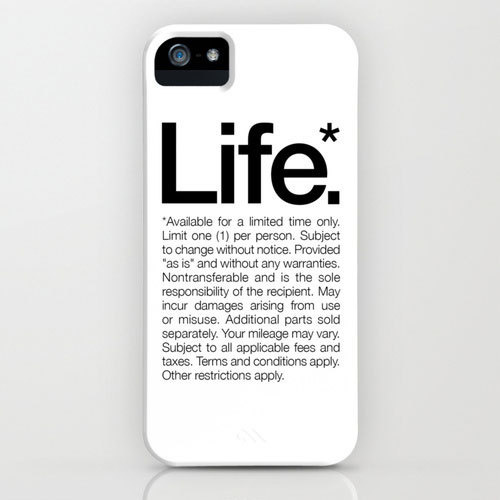 """Life* Available for a limited time only"" White iPhone Case #inspiration #white #quote #helvetica #life"
