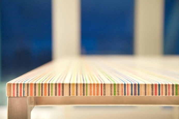Core77 / The Deckstop: Desktops Made From Trashed Skateboard Decks #trashed #wood #furniture #decks #skateboard #table
