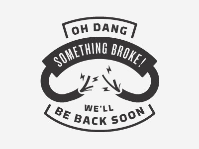 Dribbble - Broken by Jay Schaul #ludic #retro #404