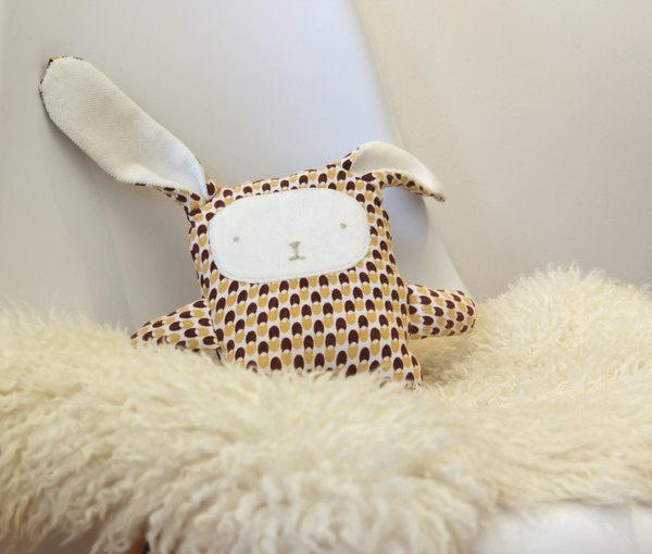Bunny Plush Nursery Decor Eco Friendly Upcycled Fabric Handmade #upcycled #plush #stuffed #rabbit #handmade #plushie #softie #cabane #toy