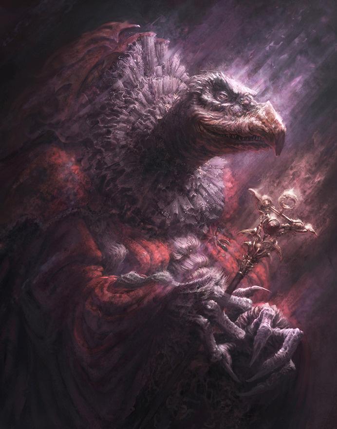 SkekSil, The Chamberlain #fantasy #baddie #crystal #bird #skeksis #illustration #film #monster #evil #dark