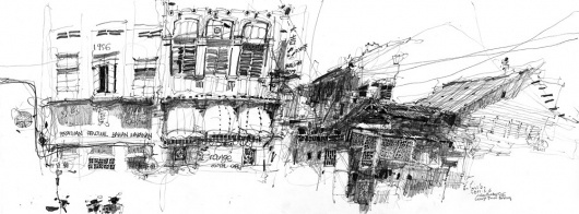 Más tamaños | 20110306 Orange Motel Cafe, Rope Walk | Flickr: ¡Intercambio de fotos! #drawing #sketch